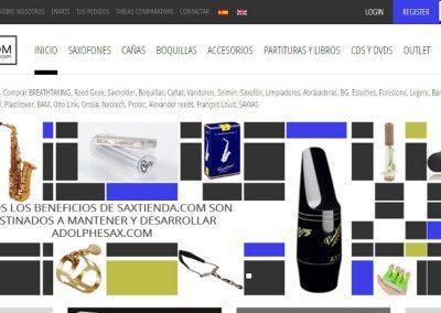 Saxtienda - Cliente campaña AdWords