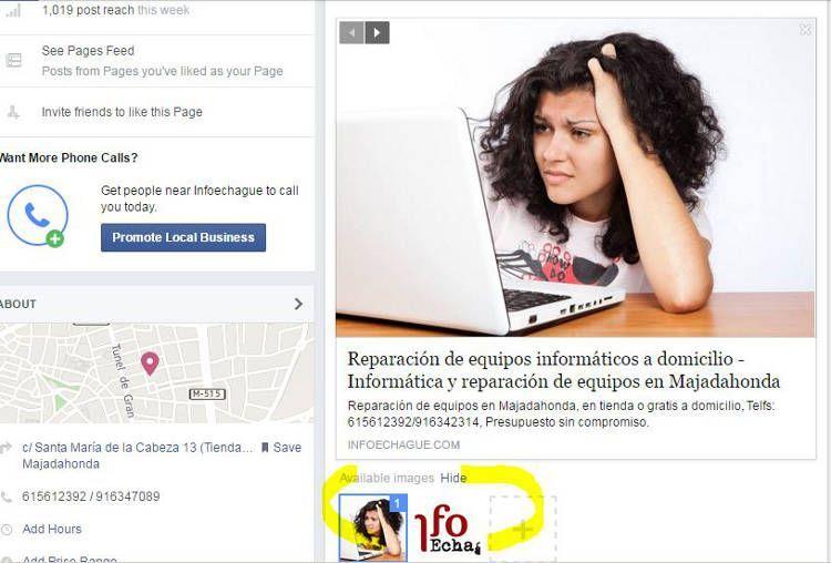 Crear post Facebook con Imagen